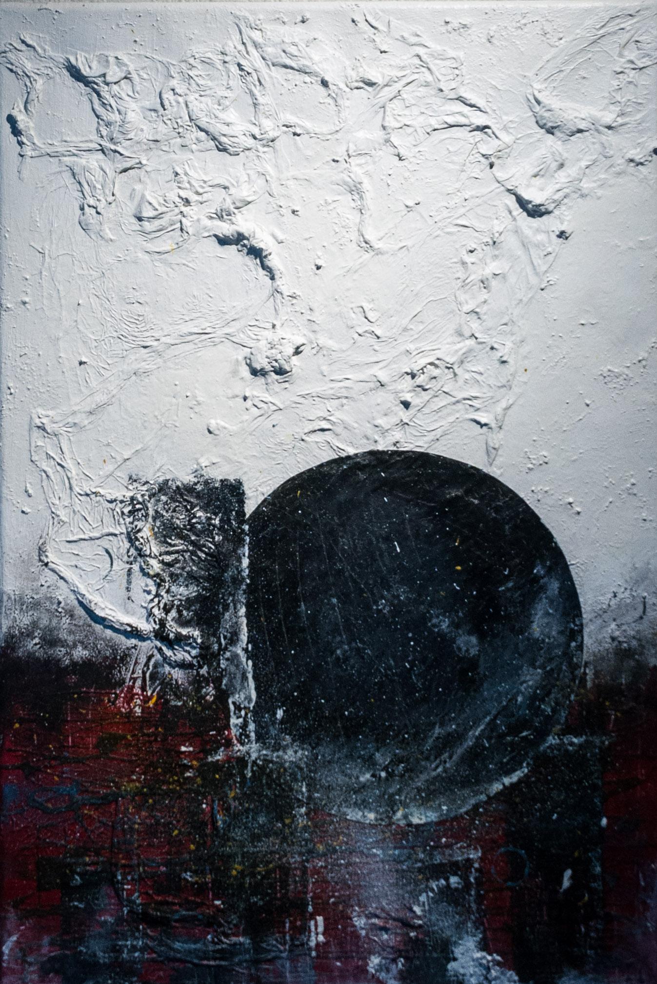 ATRO 33.3 M45 CLV U744 - 62446; Mixed media on canvas; 40 cm x 60 cm;